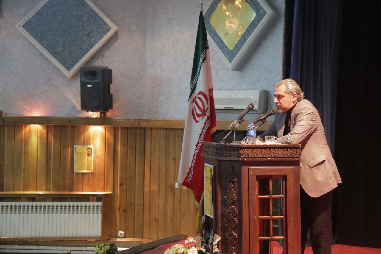 حسین مدرس زاده سخنران چهارم مراسم کاروان صلح و ادبیات تبریز